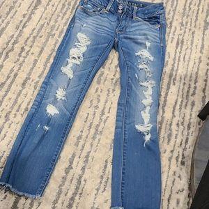 American Eagle skinny super super stretch jeans